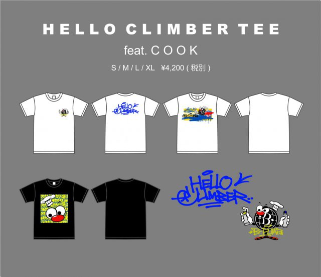 Hello Climber Tee and more!!!!! feat. COOK