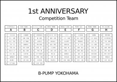 チーム発表!!!【1st ANNIVERSARY】